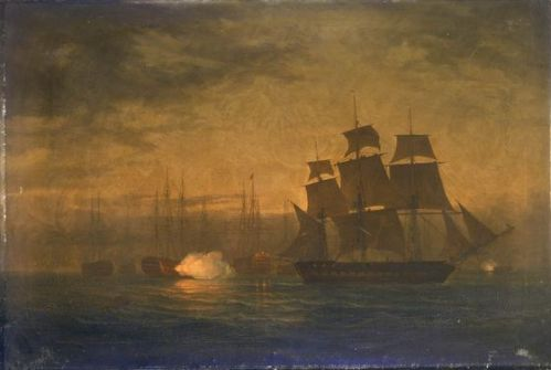 HMS Clyde escapes from the mutinous fleet at The Nore
